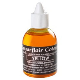sugarflair Sugarflair Airbrush Colouring -Yellow- 60ml