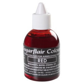 sugarflair Sugarflair Airbrush Colouring -Red- 60ml
