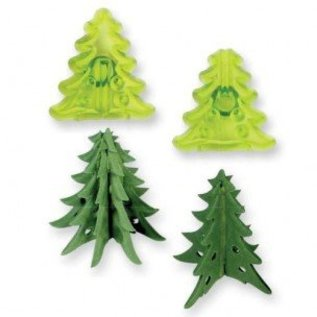 JEM JEM Small 3D Christmas Trees Cutter set/2