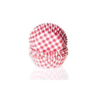 House of Marie HOM Baking Cups Ruitjes Red pk/24