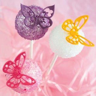 JEM JEM Fantasy Butterflies Cupcake Tops Set/4