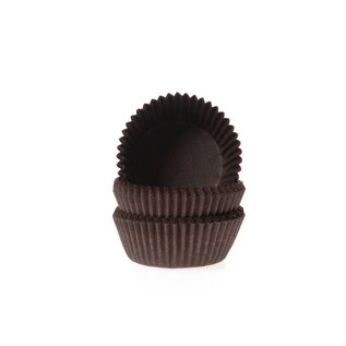 House of Marie HOM Mini Baking cups Bruin- pk/24