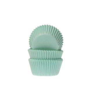 House of Marie HOM Mini Baking Cups Mint- pk/24
