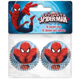 Mini Baking Cups Spiderman pk/60