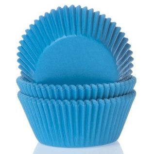 House of Marie HOM Baking cups Cyaan blauw - pk/24
