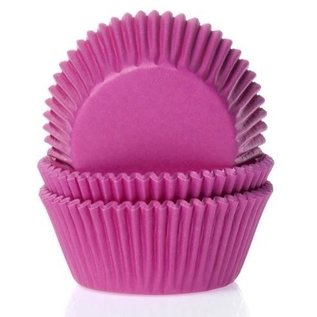 House of Marie HOM Baking cups Fuchsia roze - pk/24