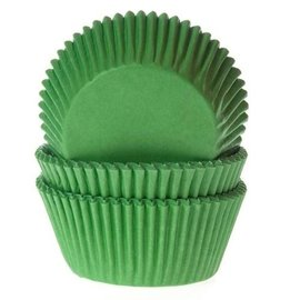 House of Marie HOM Baking cups Gras groen - pk/24