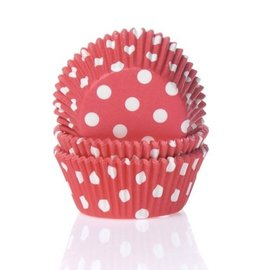 House of Marie HOM Baking cups Stip Rood- pk/50