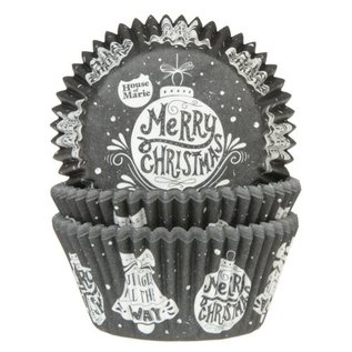 House of Marie HOM Baking Cups Kerstbal pk/24