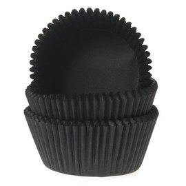 House of Marie HOM Mini Baking cups Zwart- pk/24