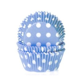 House of Marie HOM Baking cups Stip Blauw- pk/50