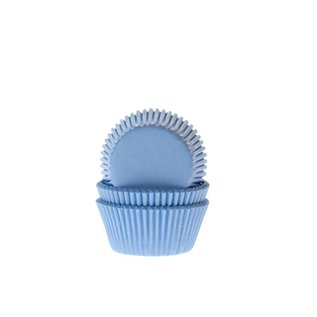 House of Marie HOM Mini Baking Cups Licht Blauw pk/24