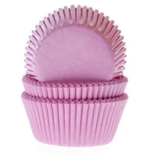 House of Marie HOM Baking cups Licht roze - pk/24