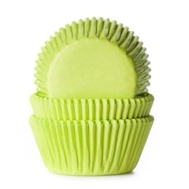 House of Marie HOM Baking cups Lime groen - pk/24