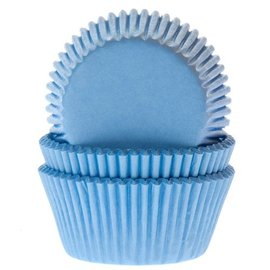 House of Marie HOM Baking cups Licht blauw - pk/24