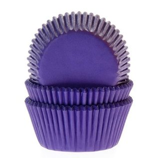 House of Marie HOM Baking cups Paars - pk/50