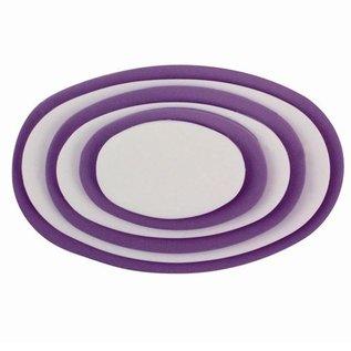 PME PME Plastic Cutter Oval Set/6