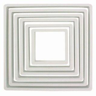 PME PME Plastic Cutter Square Set/6