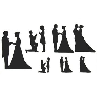 PatchWorkCutters Patchwork Cutter Wedding Silhouette set