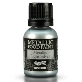 RainbowDust RD Metallic Food Paint Light Silver 25ml