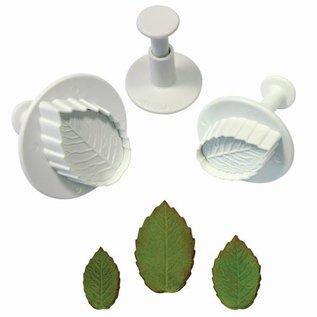 PME PME Rose/ Roos leaf plunger cutter set/3