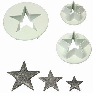 PME PME Star Cutter Set/3 plastic