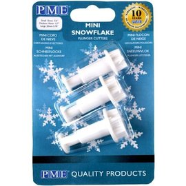 PME PME Mini Snowflake Plunger Cutter set/3