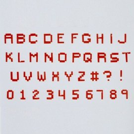 FMM FMM Alphabet & Numbers Tappits Pixel Upper Case