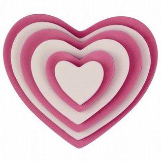 PME PME Plastic Cutter Heart Set/6
