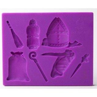 Paisley BHZ Sinterklaasmal (klein) paars