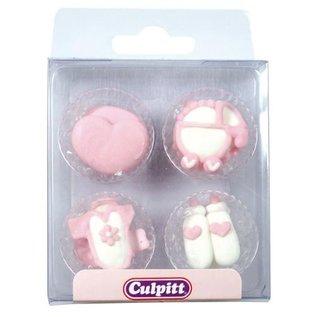 Culpitt Culpitt Suikerdecoratie Baby Pipings Pink pk/12