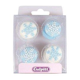 Culpitt Culpitt Suikerdecoratie Sneeuwvlokken pk/12