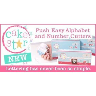 CakeStar Cake Star Push Easy Cutters Lower Case set 26 delig