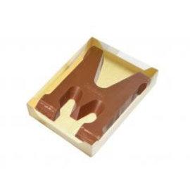 Chocoladeletter doosje Goud groot