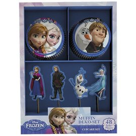 Cupcake Kit Frozen 48 st