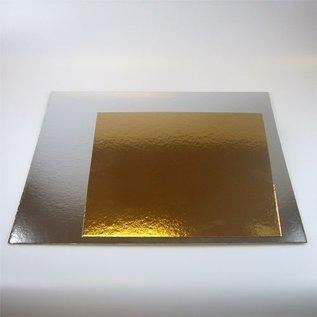 FunCakes FunCakes Taartkartons zilver/goud Vierkant 3 st. - 35 cm