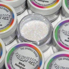 RainbowDust RD Decorative Sparkles Hologram - White -5g-