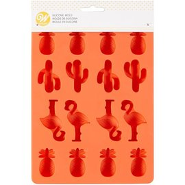 Wilton Wilton Silicone Candy Mold -Ananas/Cactus/Flamingo-