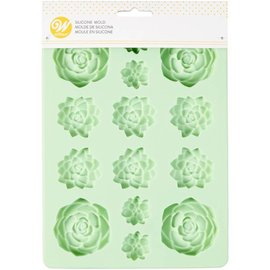 Wilton Wilton Silicone Candy Mold -Succulents- Vetplantjes