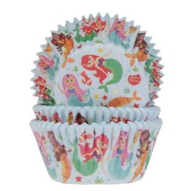House of Marie HOM Baking Cups Zeemeermin pk/50