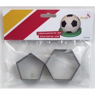 Dekofee Dekofee Voetbal Uitsteker 20 cm Set/2