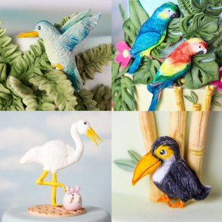 karen davies Karen Davies Siliconen Mould - Tropical Birds