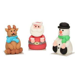 FunCakes Funcakes Suikerdecoratie 3d Kerstfiguren Set/3