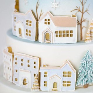 karen davies Karen Davies Siliconen Mould - Winter Village