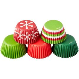 Wilton Wilton Mini Baking Cups Holiday 150st