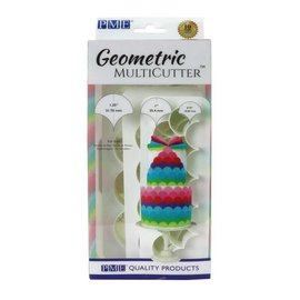 PME PME Geometric Multicutter Fish Scale Set/3