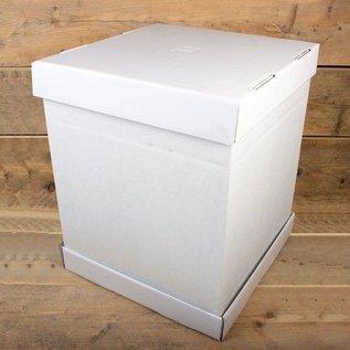 FunCakes FunCakes StapelTaartdoos -Blanco 37x37x45cm