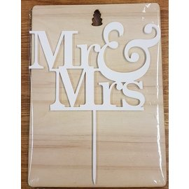 CakeTopper Mr & Mrs 1