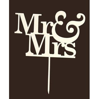 CakeTopper Mr & Mrs 1