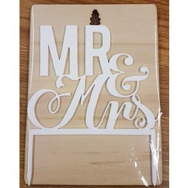 CakeTopper Mr & Mrs 2